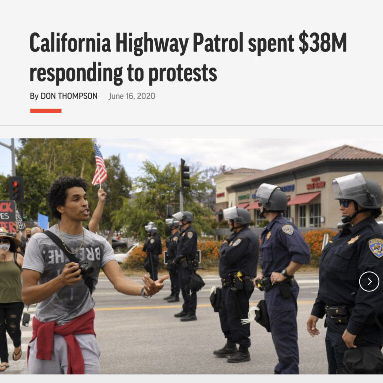 California Highway Patrol spent $38M responding to protests