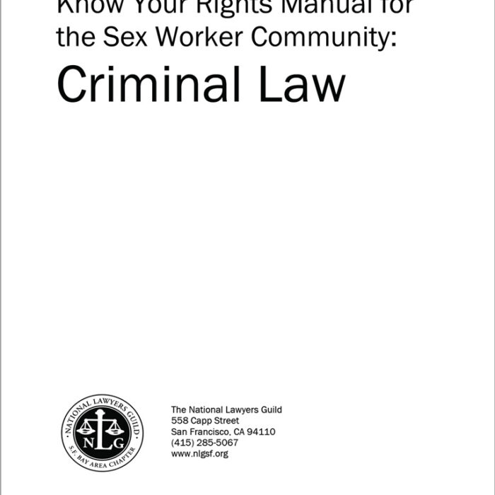 Know Your Rights for Sex Worker Community