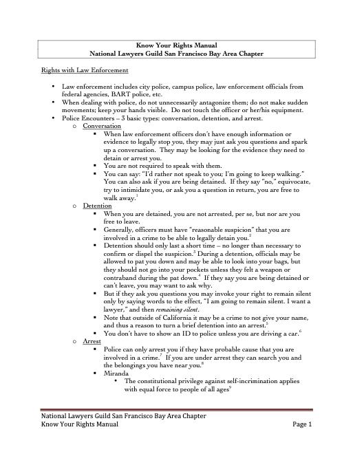 NLG SF-Bay Area KYR Manual
