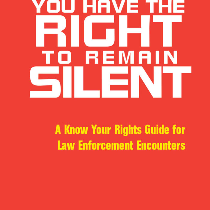 Know Your Rights Guide for Law Encounters, English