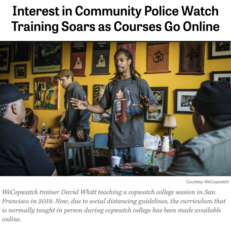 Interest in Community Police Watch Training Soars as Courses Go Online