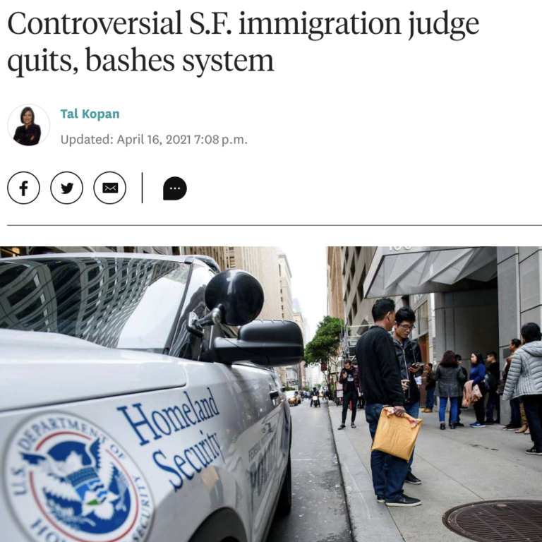 Controversial S.F. immigration judge quits, bashes system